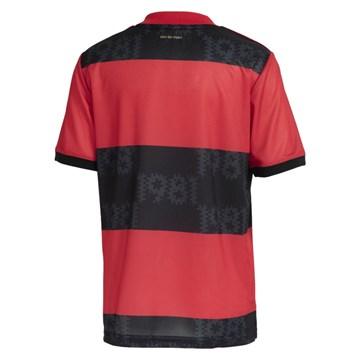 Camisa Adidas Flamengo Oficial I 2021/22 Juvenil - Vermelho e Preto