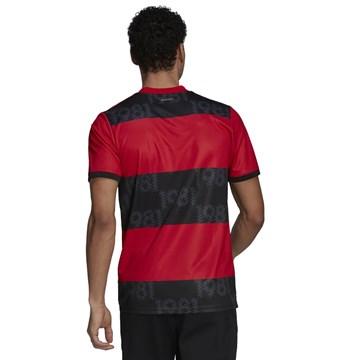 Camisa Adidas Flamengo Oficial I 2021/22 Masculina - Vermelho e Preto
