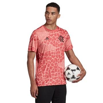 Camisa Adidas Flamengo Pré-Jogo Masculina - Rosa