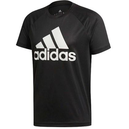 Camisa Adidas Manga Curta D2M Masculina - Preto - Esporte Legal dc19242a7cf
