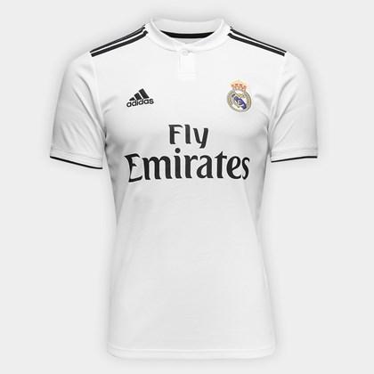 Camisa Adidas Real Madrid I 2018 2019 Masculino b20fa6aa93454