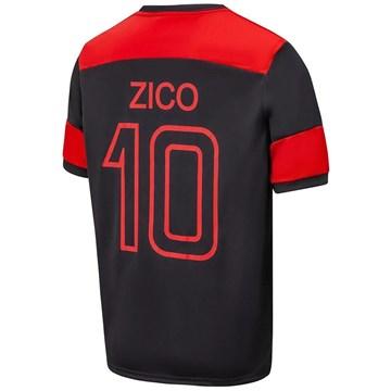 Camisa Braziline Flamengo Zico Retrô Masculina - Preto