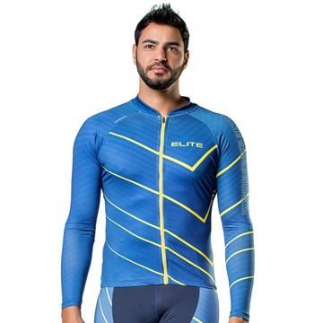 Camisa Ciclismo Elite 135142 Manga Longa Masculina - Azul