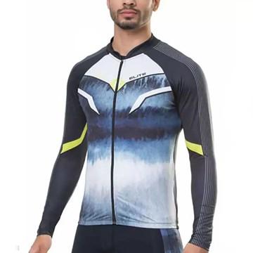 Camisa Ciclismo Elite 135162 Plus Size Masculina - Preto