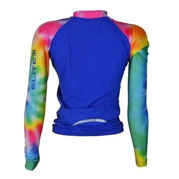 Camisa Ciclismo Elite 135175 Manga Longa Feminina - Azul