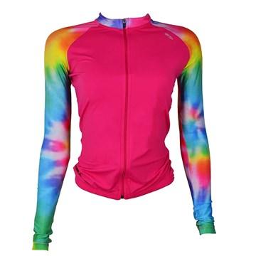 Camisa Ciclismo Elite 135175 Manga Longa Feminina - Pink