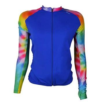 Camisa Ciclismo Elite 135175 ML Plus Size Feminina - Azul