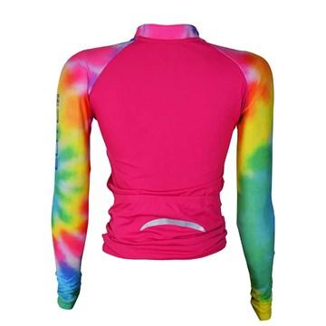 Camisa Ciclismo Elite 135175 ML Plus Size Feminina - Rosa