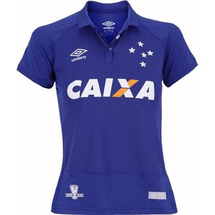 Camisa Cruzeiro Feminina Oficial 1 Umbro 3E00011 - EsporteLegal ddbd14392298a