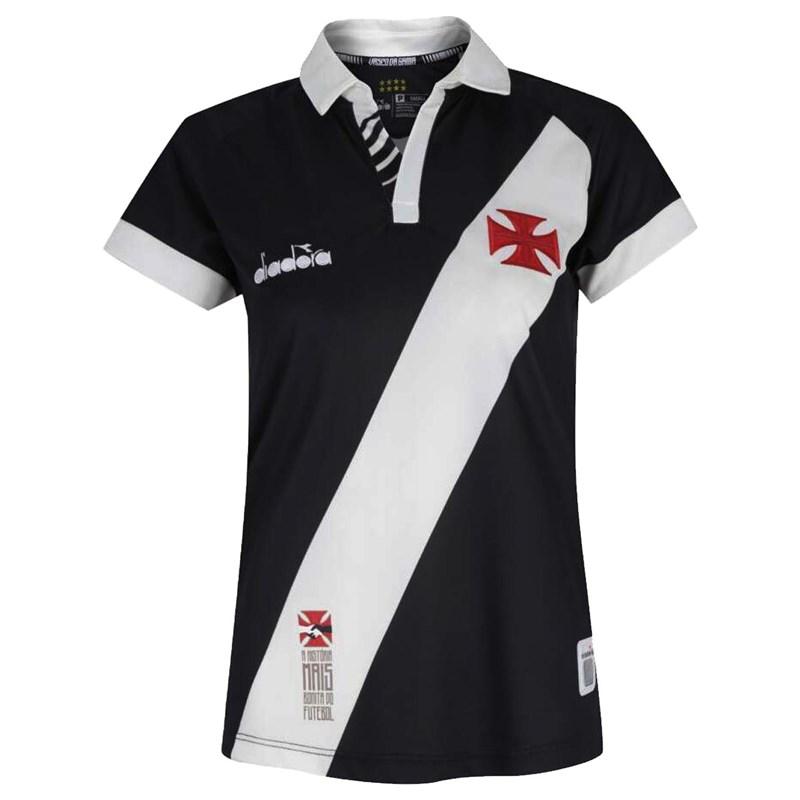 Camisa Diadora Vasco Oficial I 2019 Feminina