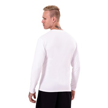 Camisa Esporte Legal Antiviral Manga Longa Masculina - Branco