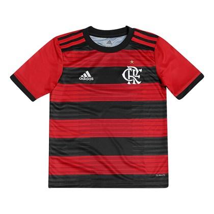 86efac21aa576 Camisa Flamengo Adidas 2018 Infantil - Vermelho e Preto - Esporte Legal