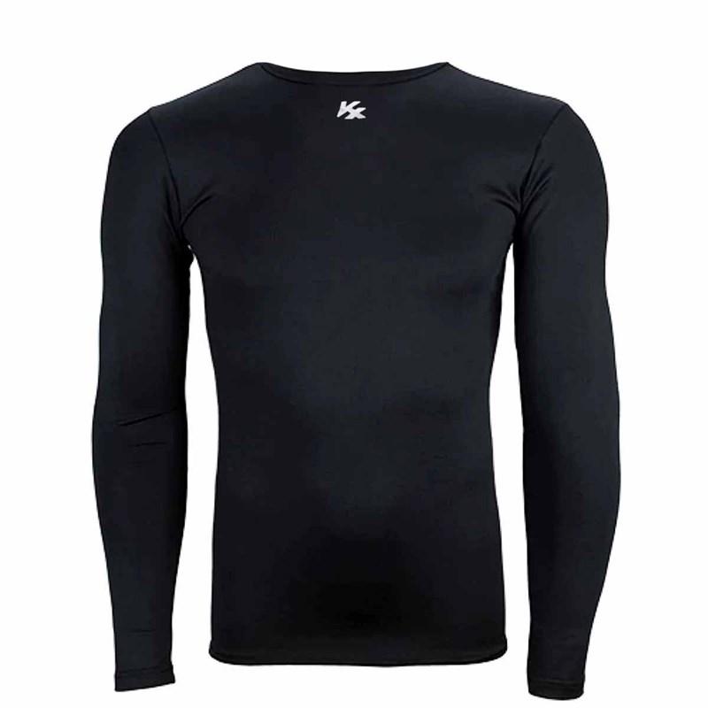 Camisa Kanxa Segunda Pele Manga Longa Masculina - Preto
