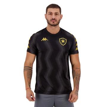 Camisa Kappa Botafogo Aquecimento 2020/21 Masculina - Preto