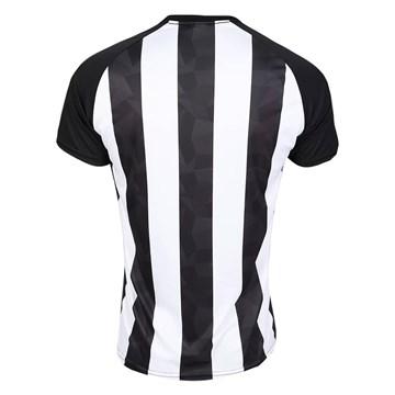 Camisa Kappa Botafogo Stripe supporter 19/20 Masculina - Branco e Preto