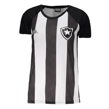 Camisa Kappa Botafogo Supporter Stripe Feminina