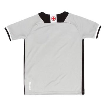 Camisa Kappa Vasco Goleiro III 2021/22 Juvenil - Cinza