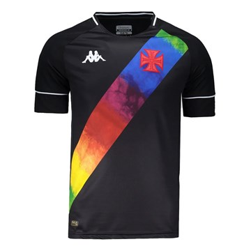 Camisa Kappa Vasco Oficial II LGBT 2021 Masculina