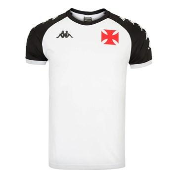 Camisa Kappa Vasco Supporter 1898 Masculina - Branco e Preto