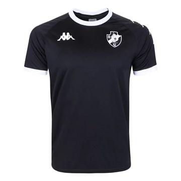 Camisa Kappa Vasco Supporter Caravela Masculina - Preto