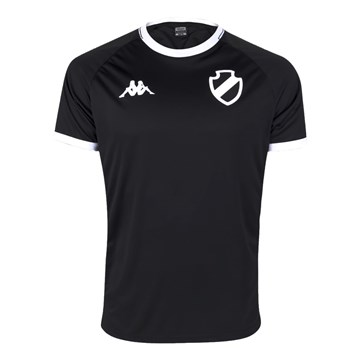 Camisa Kappa Vasco Supporter Caravela Masculina - Preto e Branco