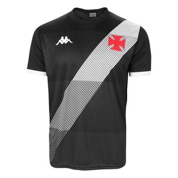 Camisa Kappa Vasco Supporter Diagonal Masculina - Preto