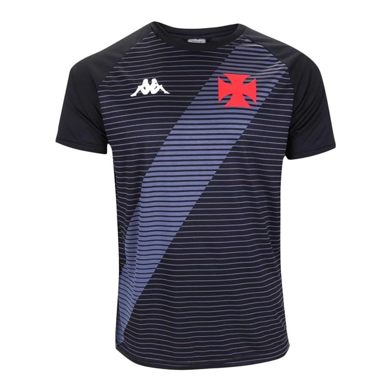 Camisa Kappa Vasco Supporter Masculina - Preto