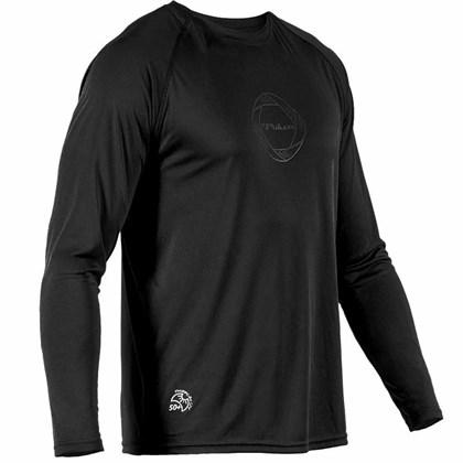 Camisa Poker Proteção UV50+ Masculina - Preto e Cinza - Esporte Legal 9e65625a3d41e