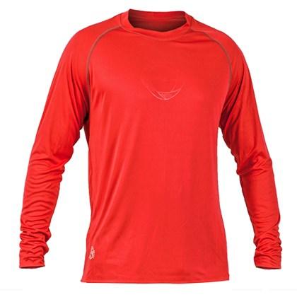 Camisa Poker Proteção UV50+ Masculina - Vermelho e Chumbo - Esporte ... 66cc1cd99fca9