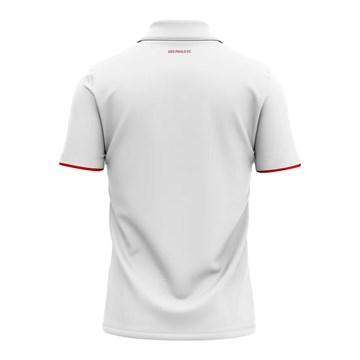 Camisa Polo Braziline São Paulo Score Masculina - Branco
