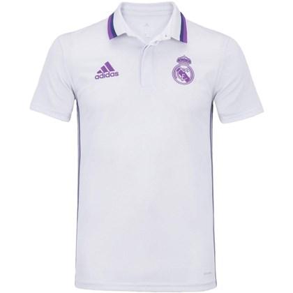 Camisa Polo Real Madid Adidas Oficial Viagem AO3070 7269dd6779da5