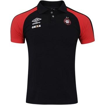 Camisa Polo Umbro Atlético Paranaense Viagem 2017 Masculina