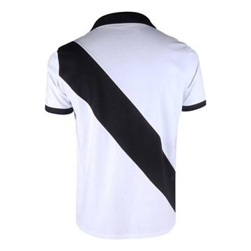 Camisa Polo Vasco Braziline Paris Masculina - Branco e Preto