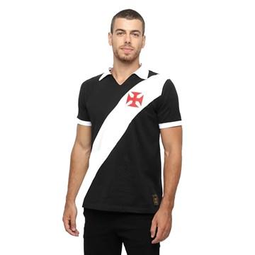 Camisa Polo Vasco Braziline Paris Masculina - Preto e Branco