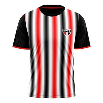 Camisa São Paulo Braziline Part Masculina - Preto
