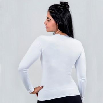Camisa Térmica Esporte Legal Luar Manga Longa Feminina - Branco
