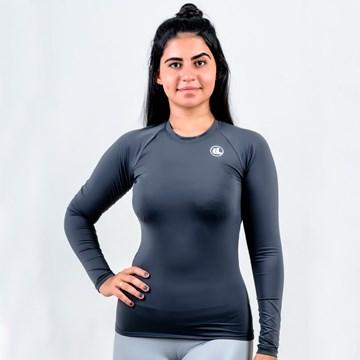 Camisa Térmica Esporte Legal Luar Manga Longa Feminina - Cinza