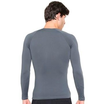 Camisa Térmica Esporte Legal Luar Manga Longa Masculina - Cinza