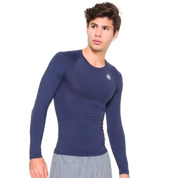 Camisa Térmica Esporte Legal Luar Manga Longa Masculina - Marinho