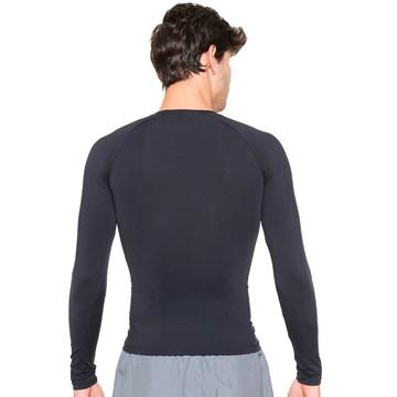 Camisa Térmica Esporte Legal Luar Manga Longa Masculina - Preto