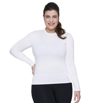 Camisa Térmica Selene Proteção UV Plus Size Feminina - Branco