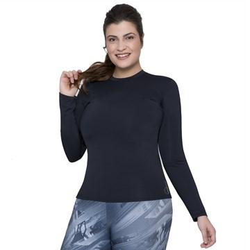 Camisa Térmica Selene Proteção UV Plus Size Feminina - Preto