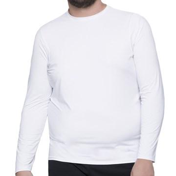 Camisa Térmica Selene Proteção UV Plus Size Masculina - Branco