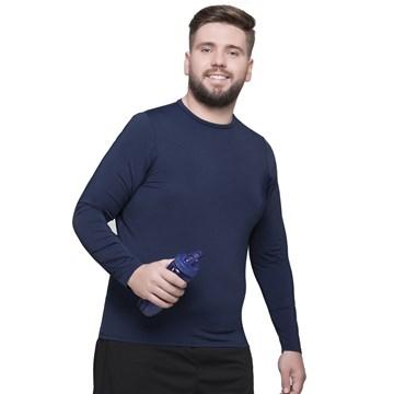 Camisa Térmica Selene Proteção UV Plus Size Masculina - Marinho