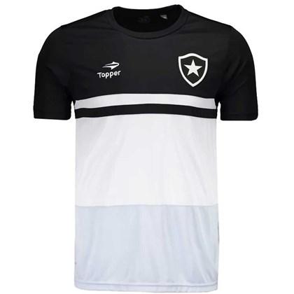 24d3388ec0 Camisa Topper Botafogo Concentração - Preto e Branco - Esporte Legal
