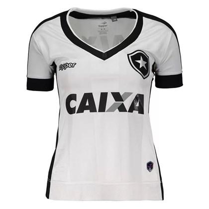 Camisa Topper Botafogo III 2017 Feminina - Branco e Preto - Esporte ... 0b91b885684bc
