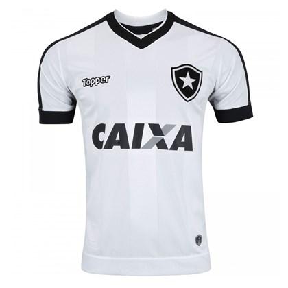 eba1a3f242 Camisa Topper Botafogo III 2017 Masculina - Branco e Preto - Esporte ...