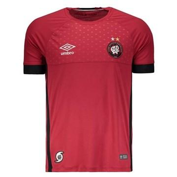 Camisa Umbro Athletico Paranaense Goleiro I 2018 Masculina - Vermelho e Preto