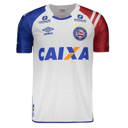 ac8f4d4f73 Camisa Umbro Bahia Oficial 1 2017 2018 Masculina - Branco - Esporte ...