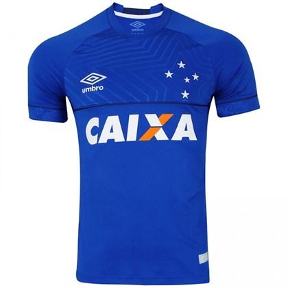 Camisa Umbro Cruzeiro I 2018 2019 Torcedor Masculina - Azul e Branco ... 3373e8d22b8f3